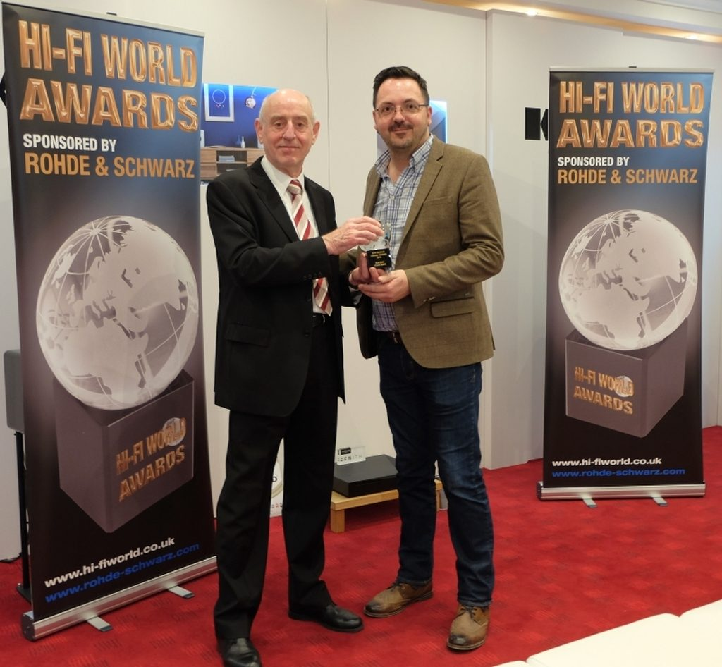Chord collects Best DAC trophy at Hi-Fi World's recent award